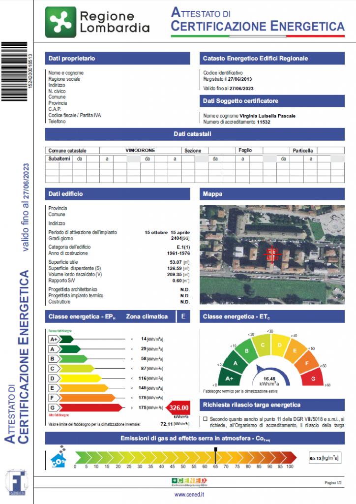 Attestato di certificazione energetica ace - Certificazione energetica e contratto di locazione ...